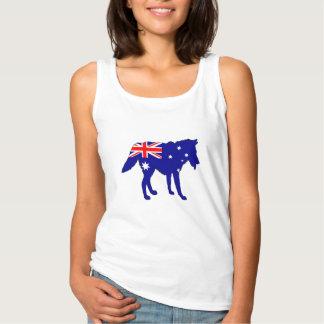 Australian Flag - Wolf Singlet