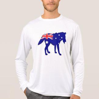 Australian Flag - Wolf T-Shirt