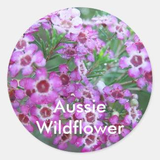 Australian Geralton Wax Classic Round Sticker