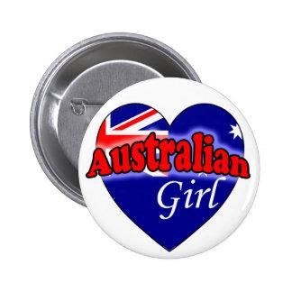 Australian Girl 6 Cm Round Badge