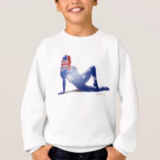 Australian Girl Silhouette Flag Sweatshirt