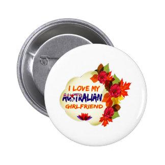 Australian Girlfriend designs 6 Cm Round Badge