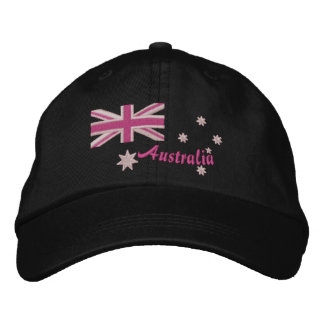 Australian Girly Flag Embroidery Embroidered Hats