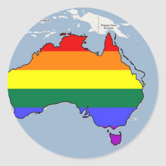 Australian GLBT Pride Classic Round Sticker