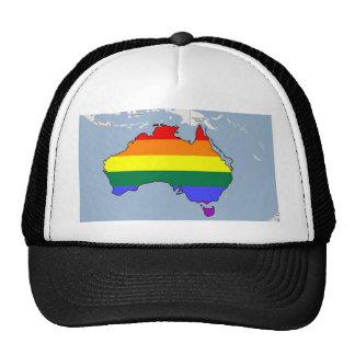 Australian GLBT Pride Mesh Hat