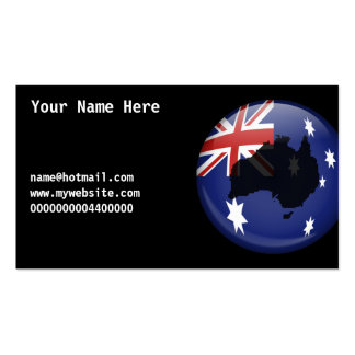 Australian Globe, Your Name Here, Pack Of Standard Business Cards