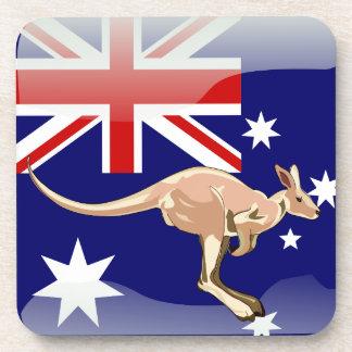 Australian glossy flag coasters