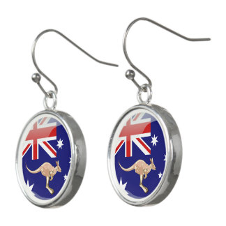 Australian glossy flag earrings
