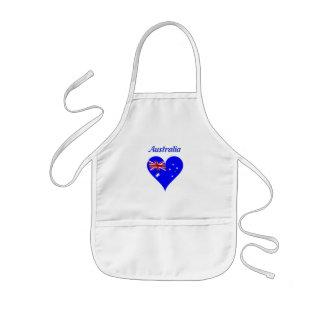Australian heart kids apron