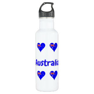 Australian hearts 710 ml water bottle