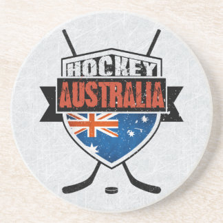 Australian Ice Hockey Flag Logo Coaster