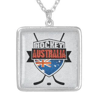 Australian Ice Hockey Flag Logo Pendant