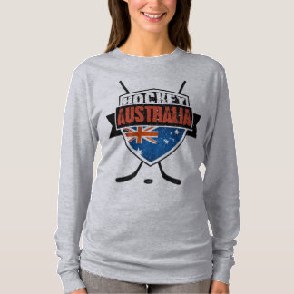 Australian Ice Hockey Flag Logo Tshirt