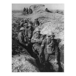 Australian Infantry Wearing Small Box Respirators Postcard