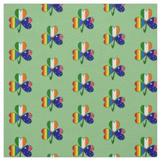 Australian Irish Gay Pride Rainbow Flag Shamrock Fabric