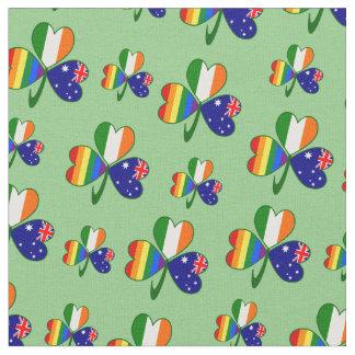 Australian Irish Gay Pride Shamrock Fabric