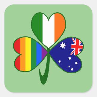 Australian Irish Gay Pride Shamrock Square Sticker