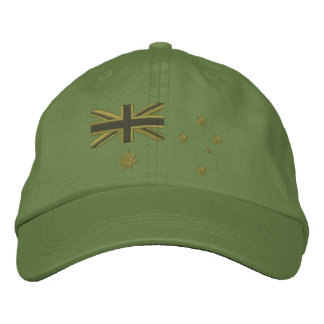 Australian Kaki Flag Embroidery Embroidered Cap