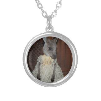 Australian Kangaroo Joey Silver Plated Necklace