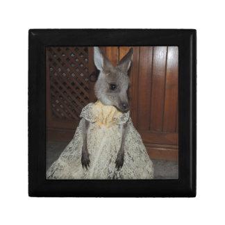 Australian Kangaroo Joey Small Square Gift Box