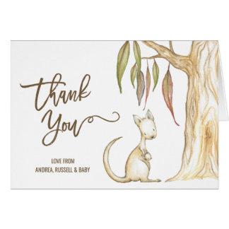 Australian Kangaroo Neutral Baby Shower Thank You Card