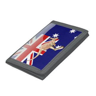 Australian kangaroo trifold wallets