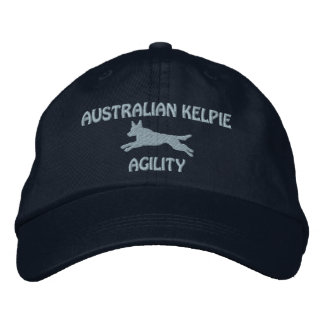 Australian Kelpie Agility Embroidered Hat (Blue)