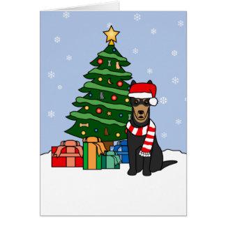 Australian Kelpie and Christmas Tree Greeting Card