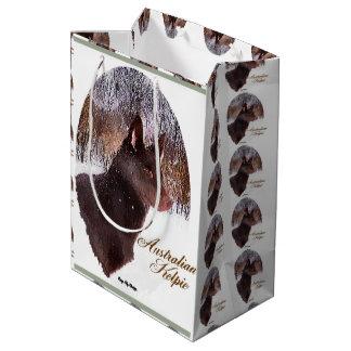 Australian Kelpie Christmas Medium Gift Bag