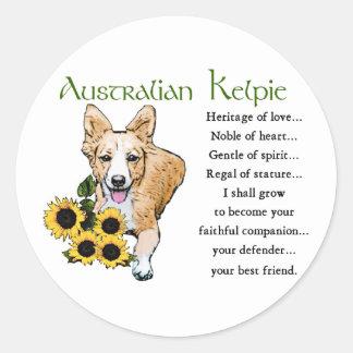 Australian Kelpie Gifts Stickers