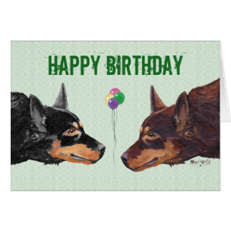Australian Kelpie Happy Birthday Card