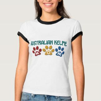 AUSTRALIAN KELPIE MOM Paw Print T Shirt