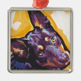 australian kelpie Pop Art Metal Ornament