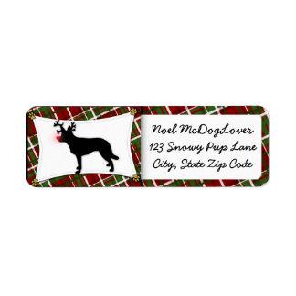Australian Kelpie Reindeer Christmas Return Address Label