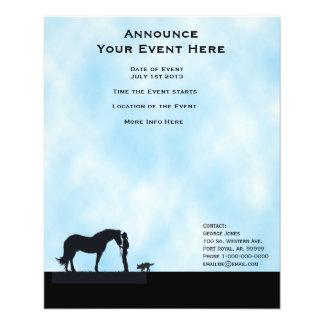 Australian Kelpie Western Silhouette Event Flyer