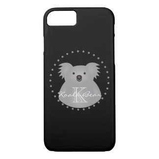 Australian Koala Bear Cute Add Your Name Monogram iPhone 8/7 Case