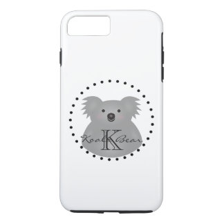 Australian Koala Bear Cute Add Your Name Monogram iPhone 8 Plus/7 Plus Case