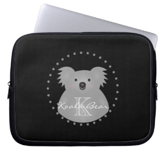 Australian Koala Bear Cute Add Your Name Monogram Laptop Sleeve