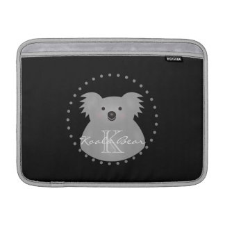 Australian Koala Bear Cute Add Your Name Monogram MacBook Sleeve