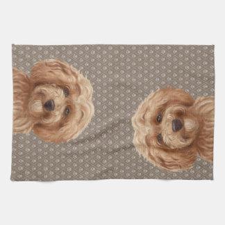 Australian Labradoodle Goldendoodle  Beige Tea Towel