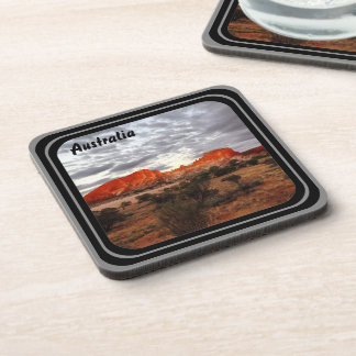 Australian landscape drink coaster set