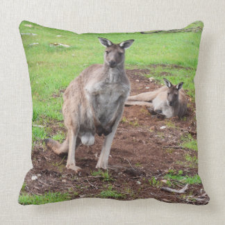 Australian Male Buck Kangaroo Large Throw Cushion. Cushion
