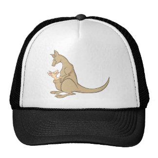 Australian Mama Kangaroo and Baby Joey Trucker Hat