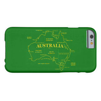 Australian Map Barely There iPhone 6 Case