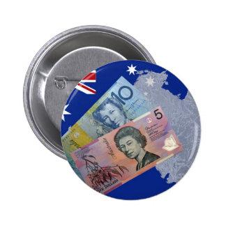 Australian Money 6 Cm Round Badge