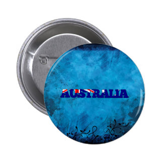 Australian name and flag on cool wall 6 cm round badge