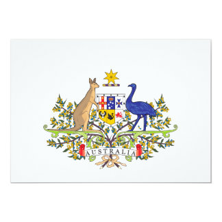 Australian national emblem 13 cm x 18 cm invitation card