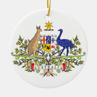 Australian national emblem ceramic ornament