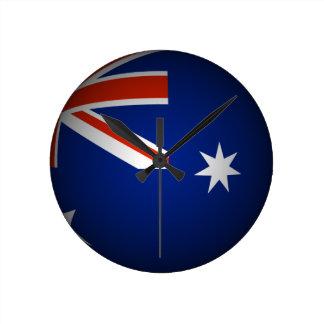 Australian national flag sphere, 3D look Clocks
