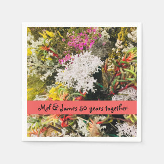 Australian Native Wildflowers Paper Napkins